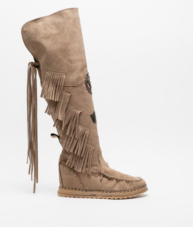 Knee-Length Indianini Boot Natek - Kaki
