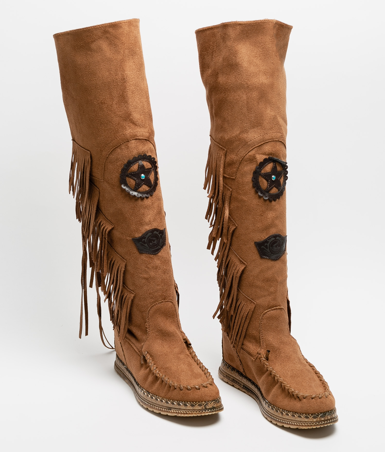 Knee-Length Indianini Boot Natek - Camel
