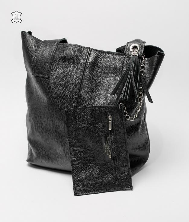 Elisa leather bag - black