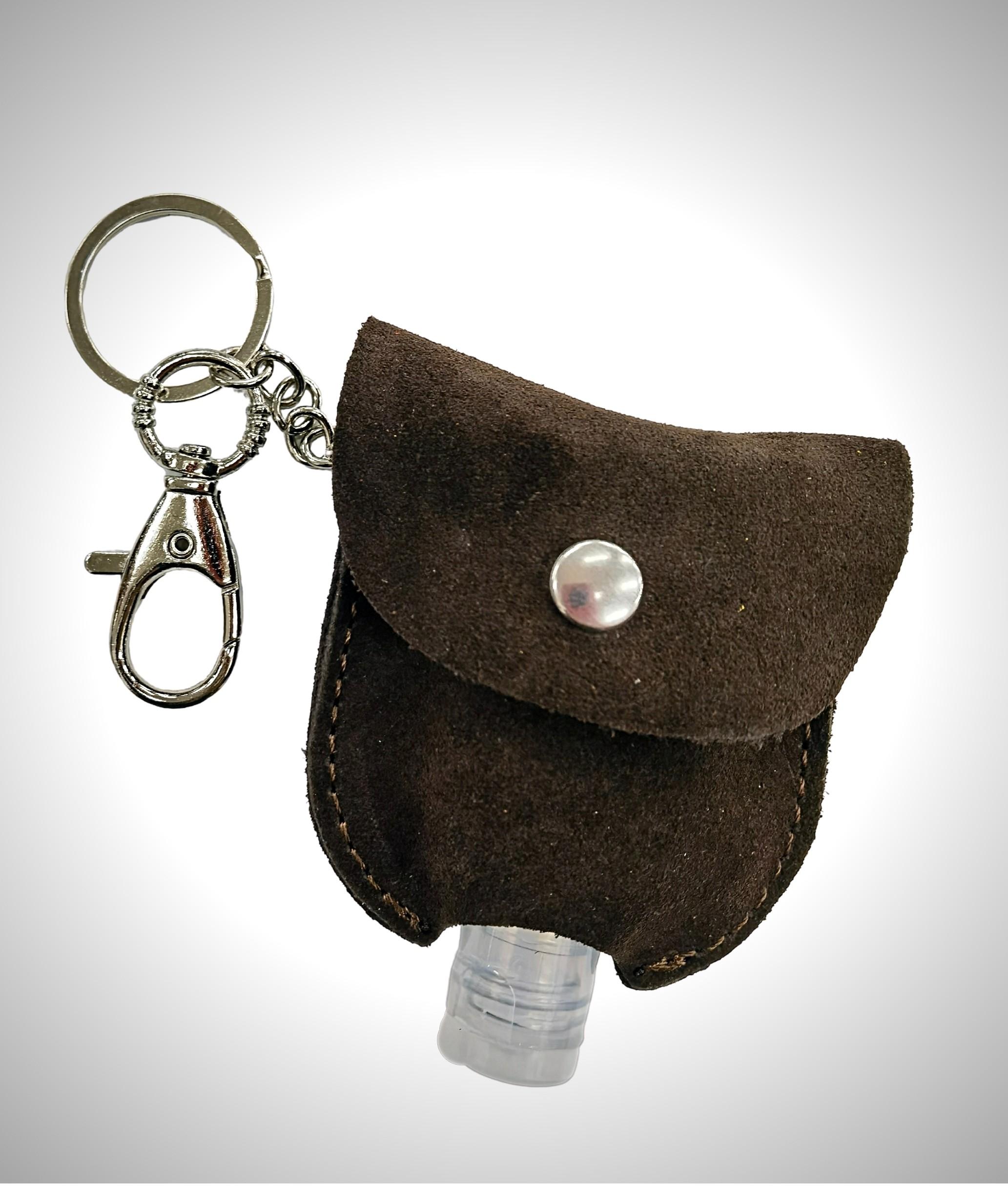 Porte-clés en cuir porte-gel - vert