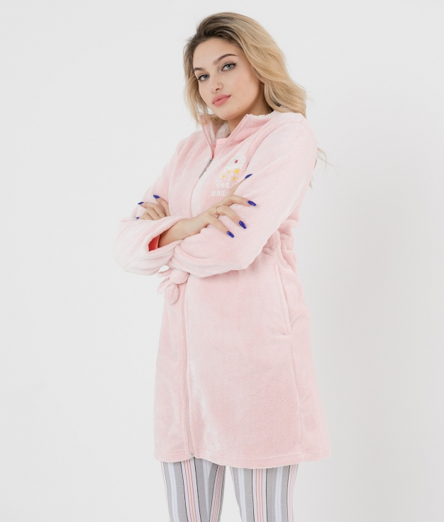 Coat Teseida - Pink Coral