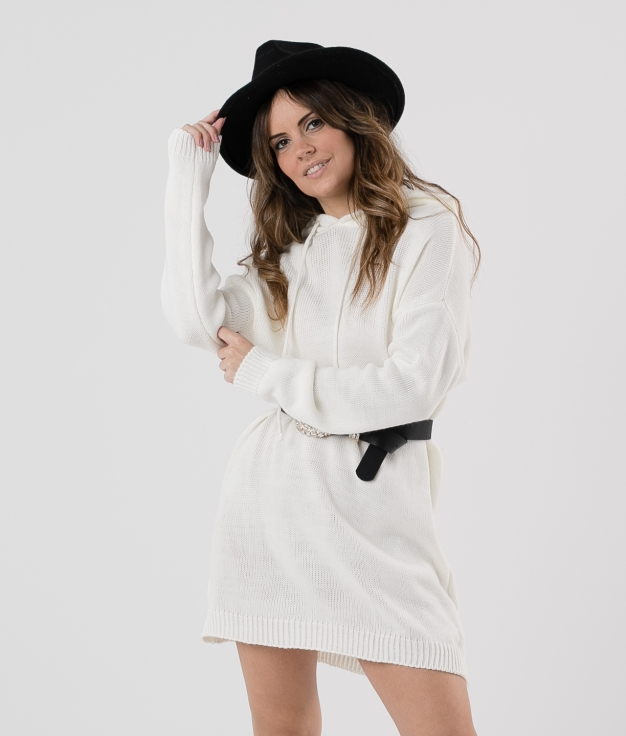 DRESS BERA - WHITE