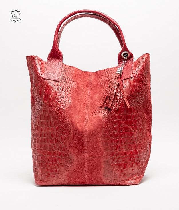 Bolsa de couro Elena - vermelho