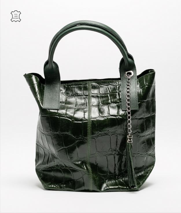 Bolsa de couro Elania - verde