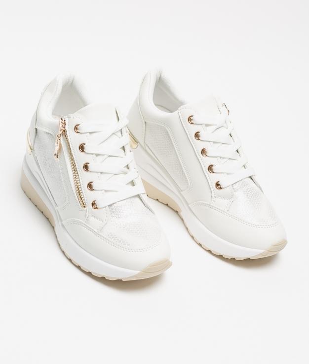 Sneakers Braila - Blanc/Or