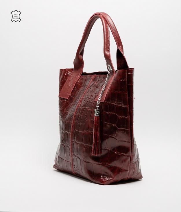 Bolsa de couro Elania - vermelho