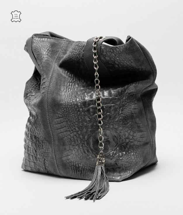 Bolsa de couro Elena - preto