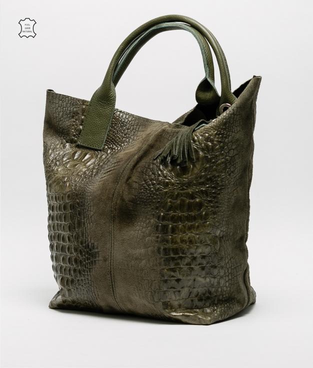Bolsa de couro Elena - verde