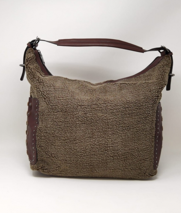 BOLSO BORREGUILLO - MARRON