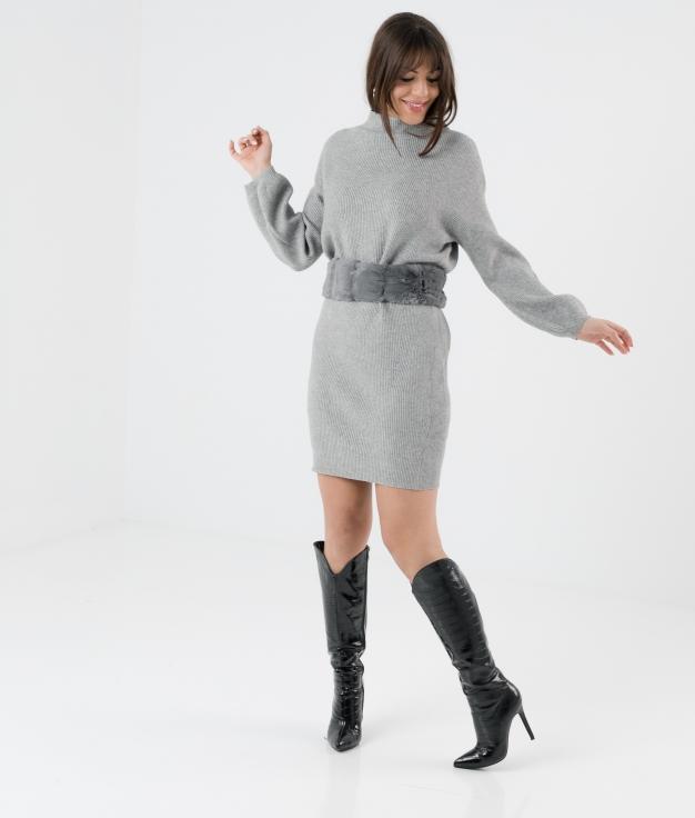 Vestido Plixe - Gris