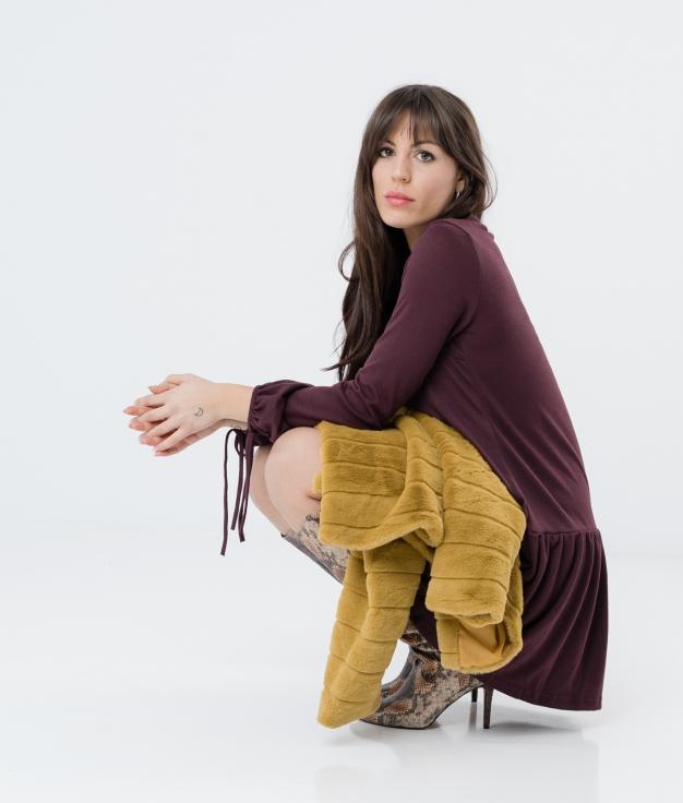 Dress Solivel - Maroon