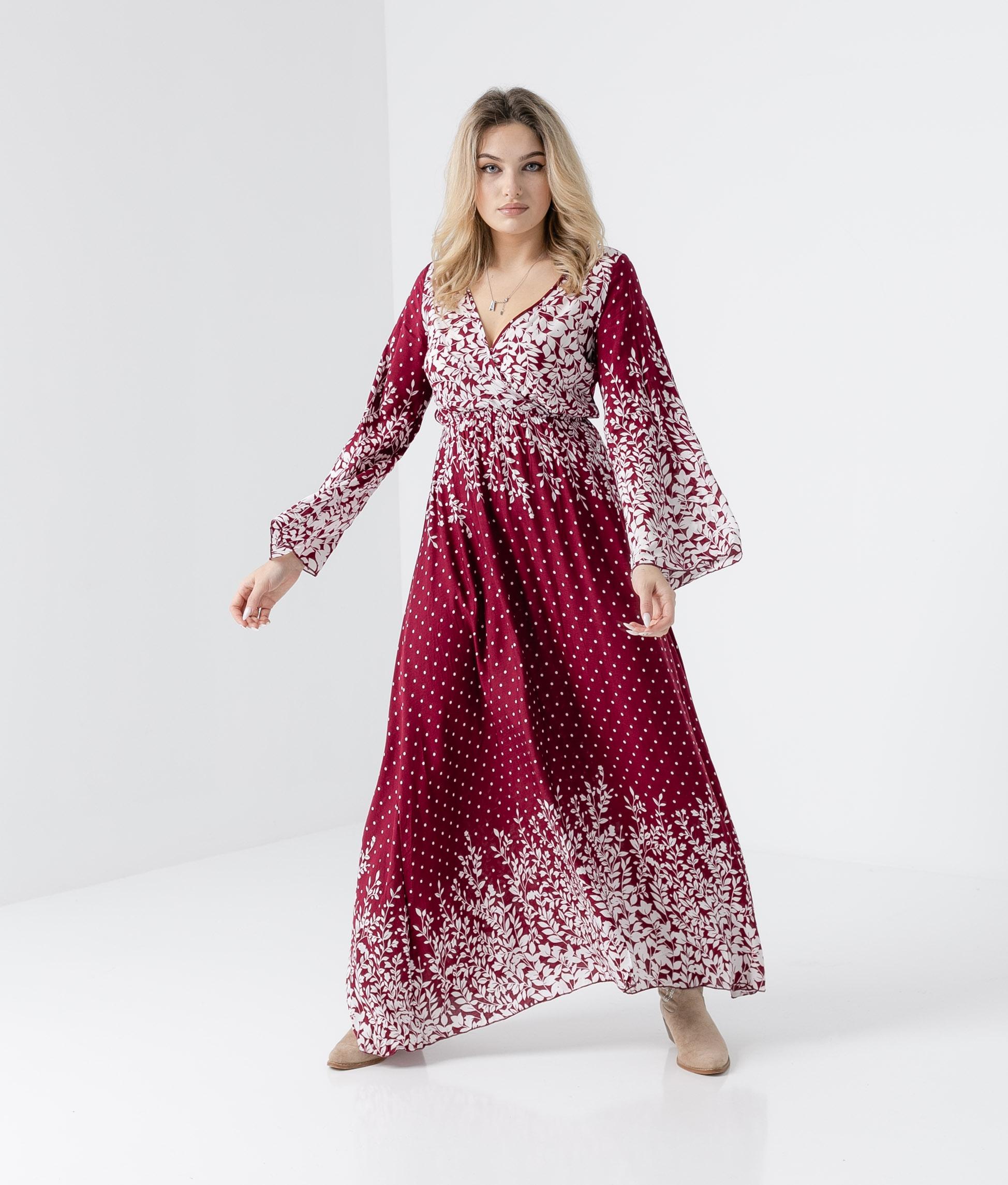 Vestido Disfrute - Grená