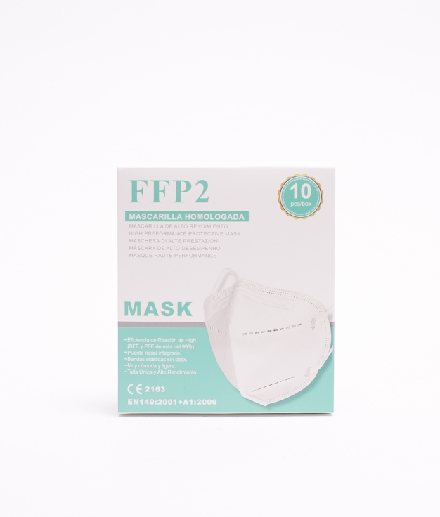 PACK 10 MASCARILLAS FFP2 ADULTO - BLANCO
