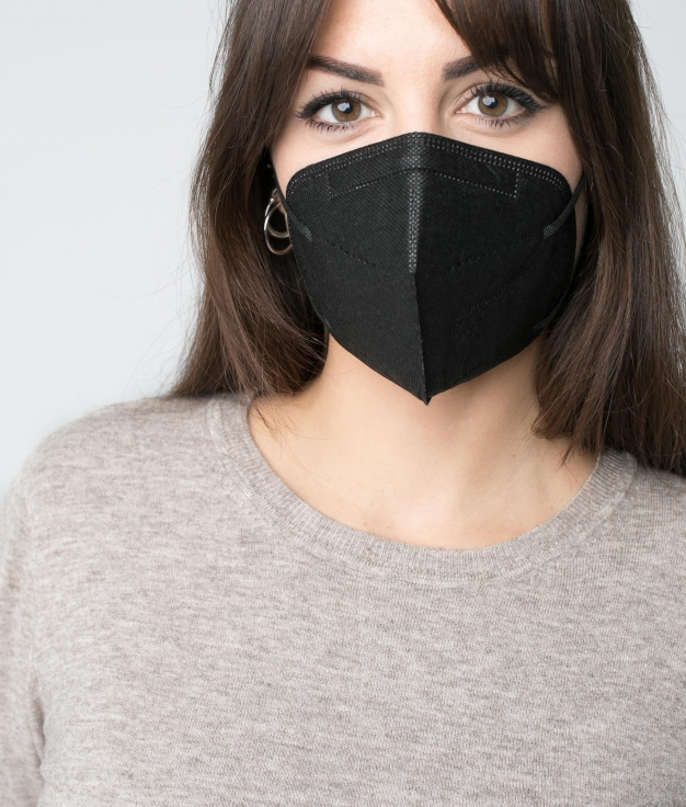 PACK 10 MASCARILLAS FFP2 ADULTO - NEGRO