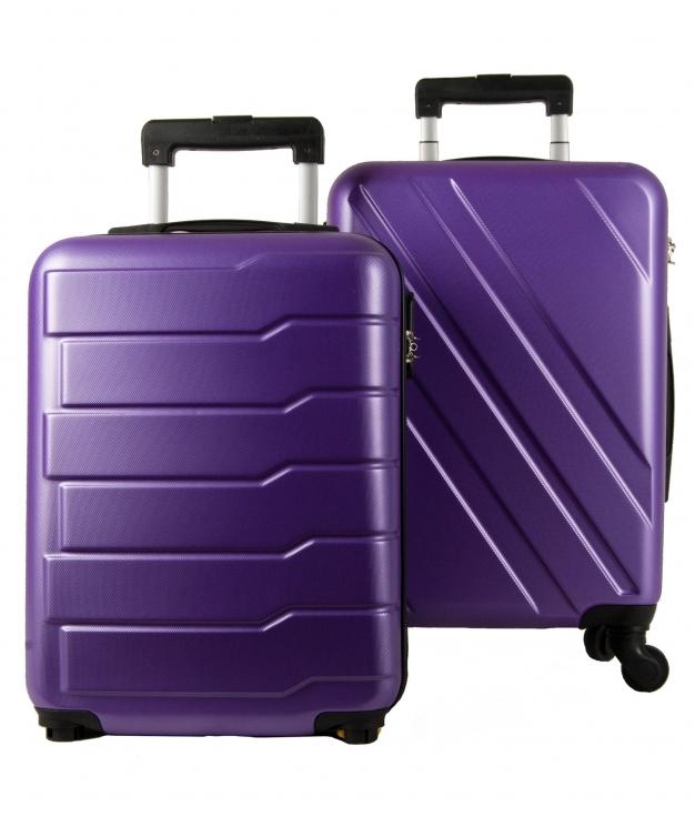 Valise Londres 2 Morceaux - Violet