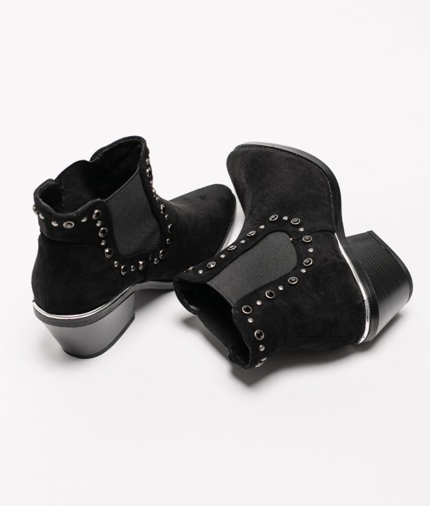 Low Boot Leot - Black