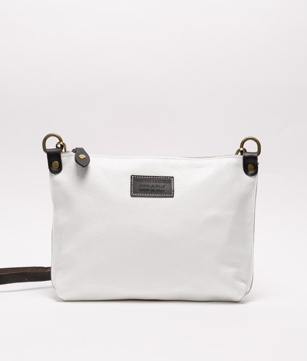 Bolsa de couro Ivana - branco