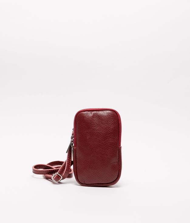 Bolsa de couro Ivana - rosso