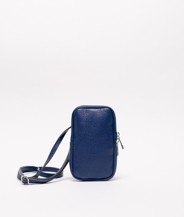 Bolsa de couro Ivana - azul
