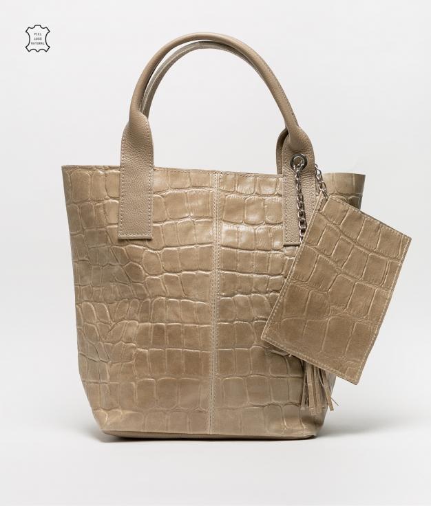 Bolsa de couro Elania - arena