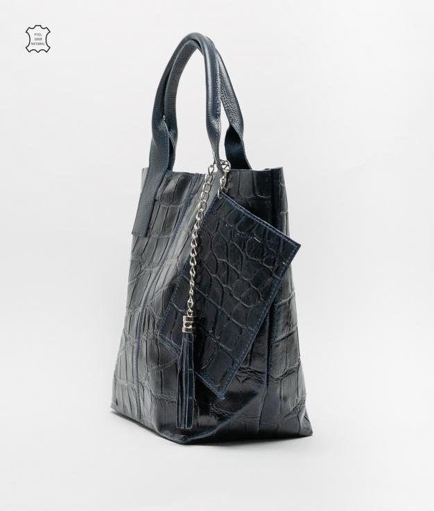 Bolsa de couro Elena - marenho