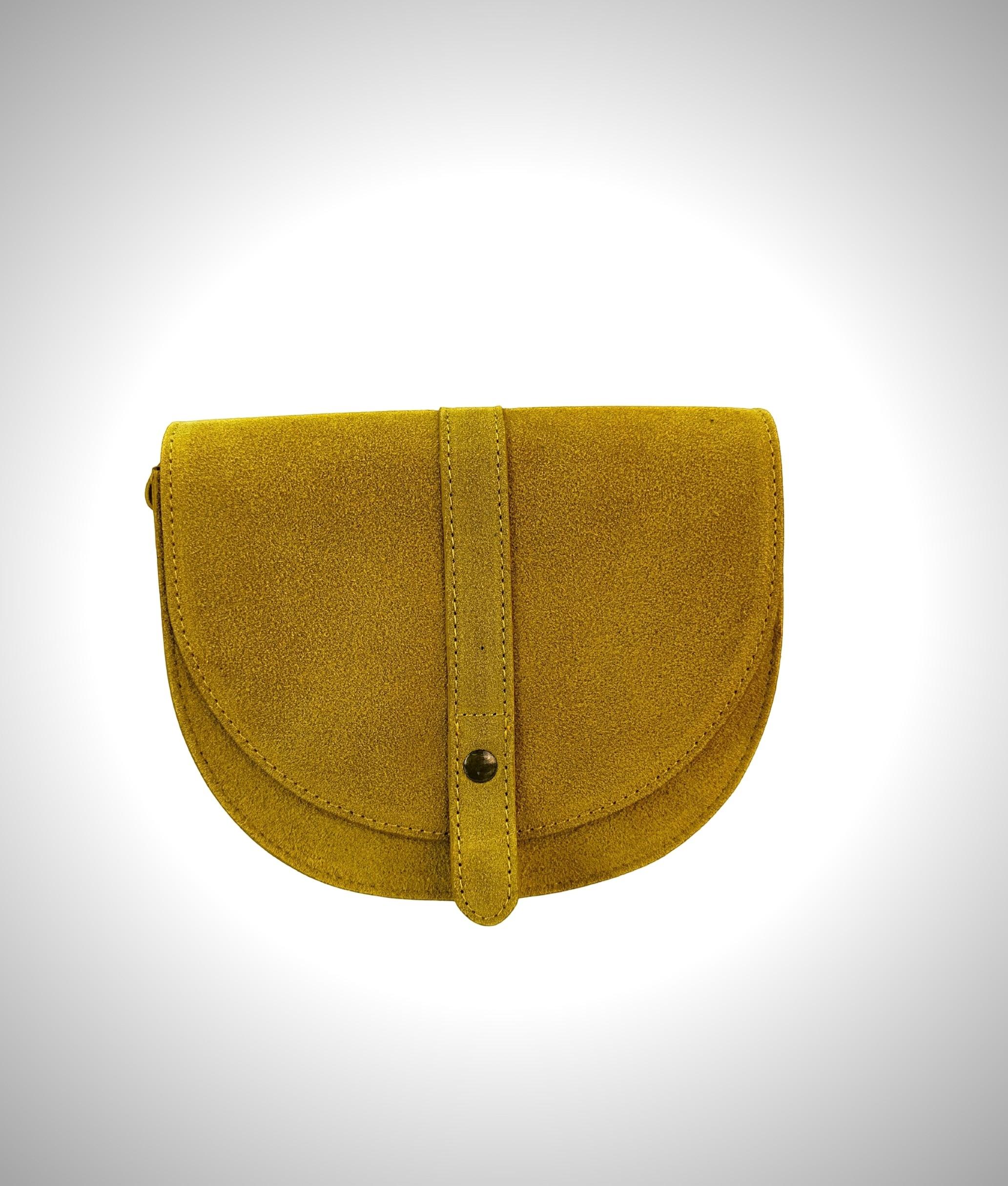 Leather crossbody bag Luna - yellow