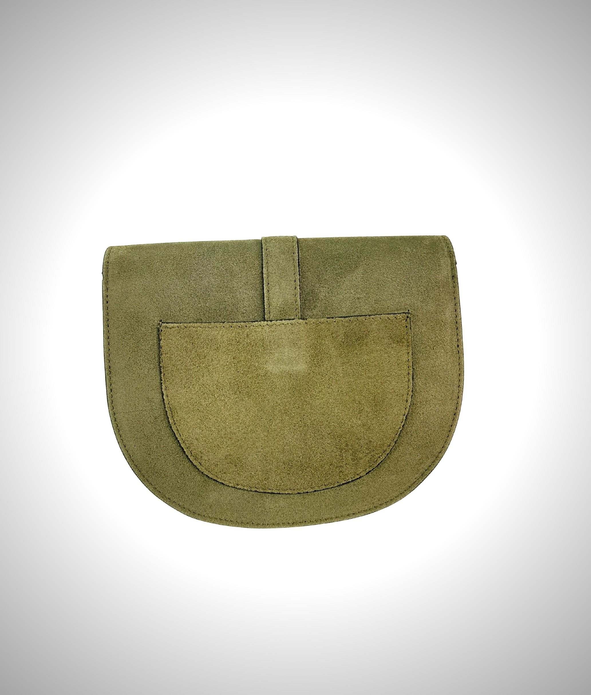 Leather crossbody bag Luna - green