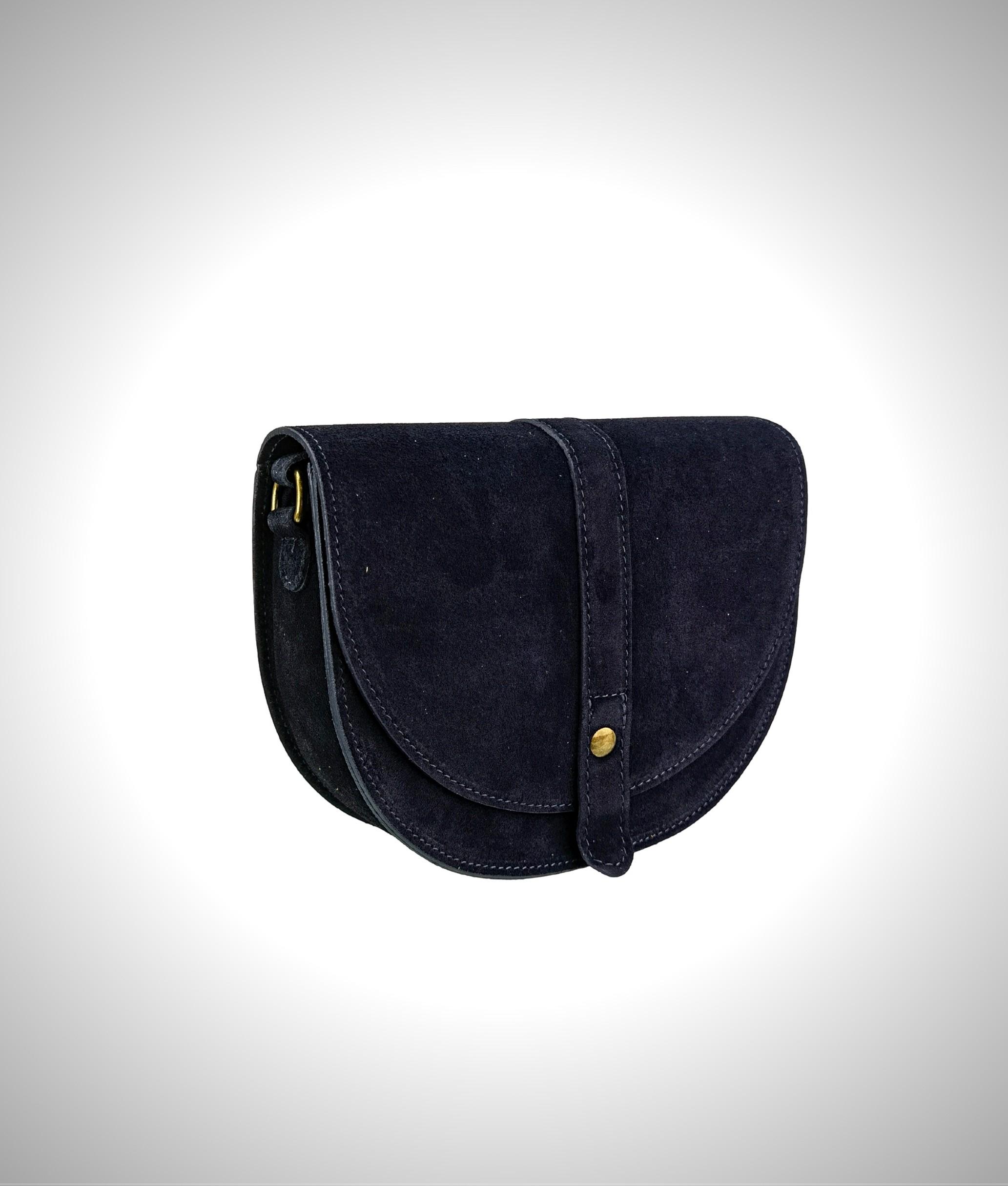 Leather crossbody bag Luna - blue