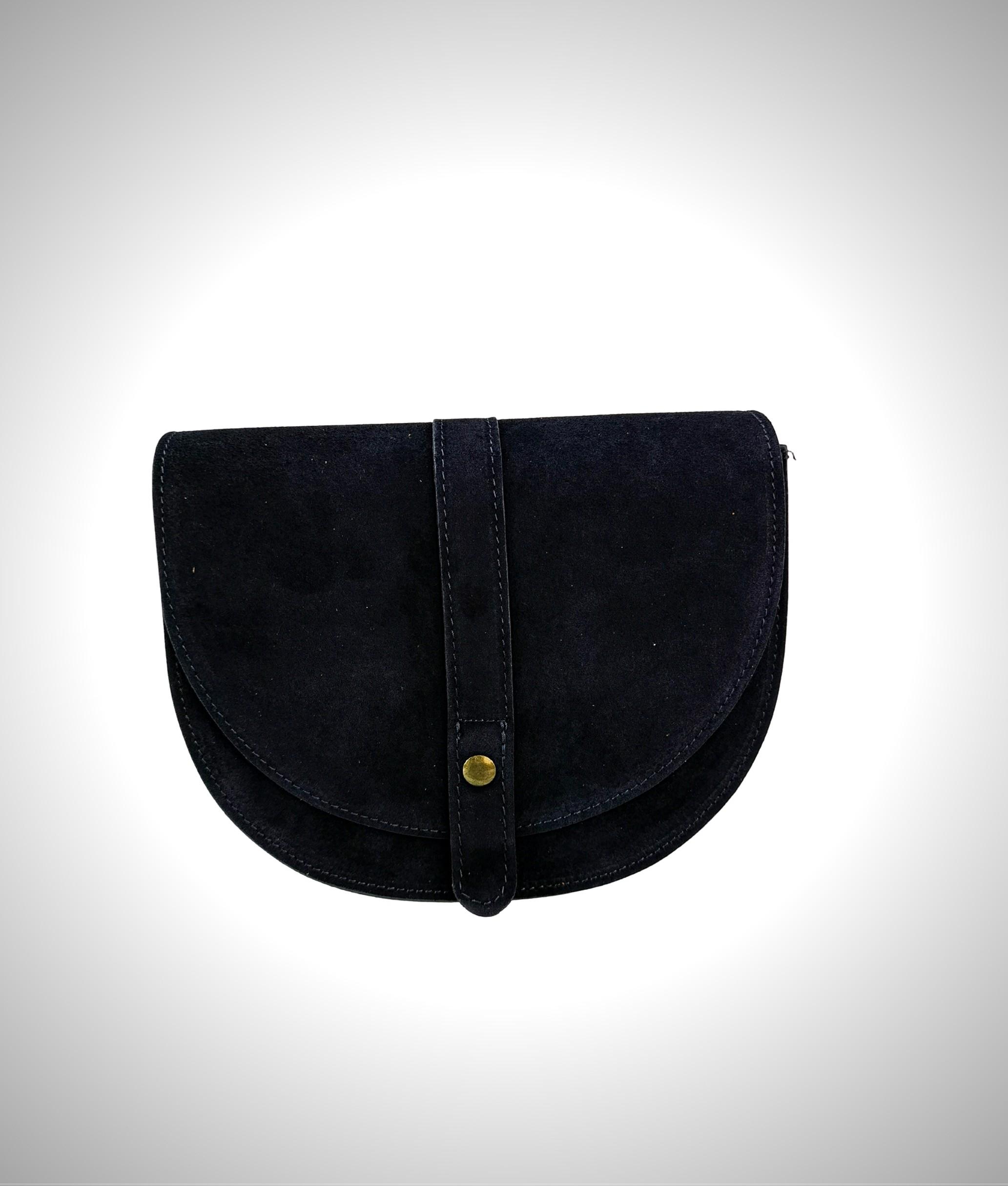 Bolsa crossbody em couro Luna - azul