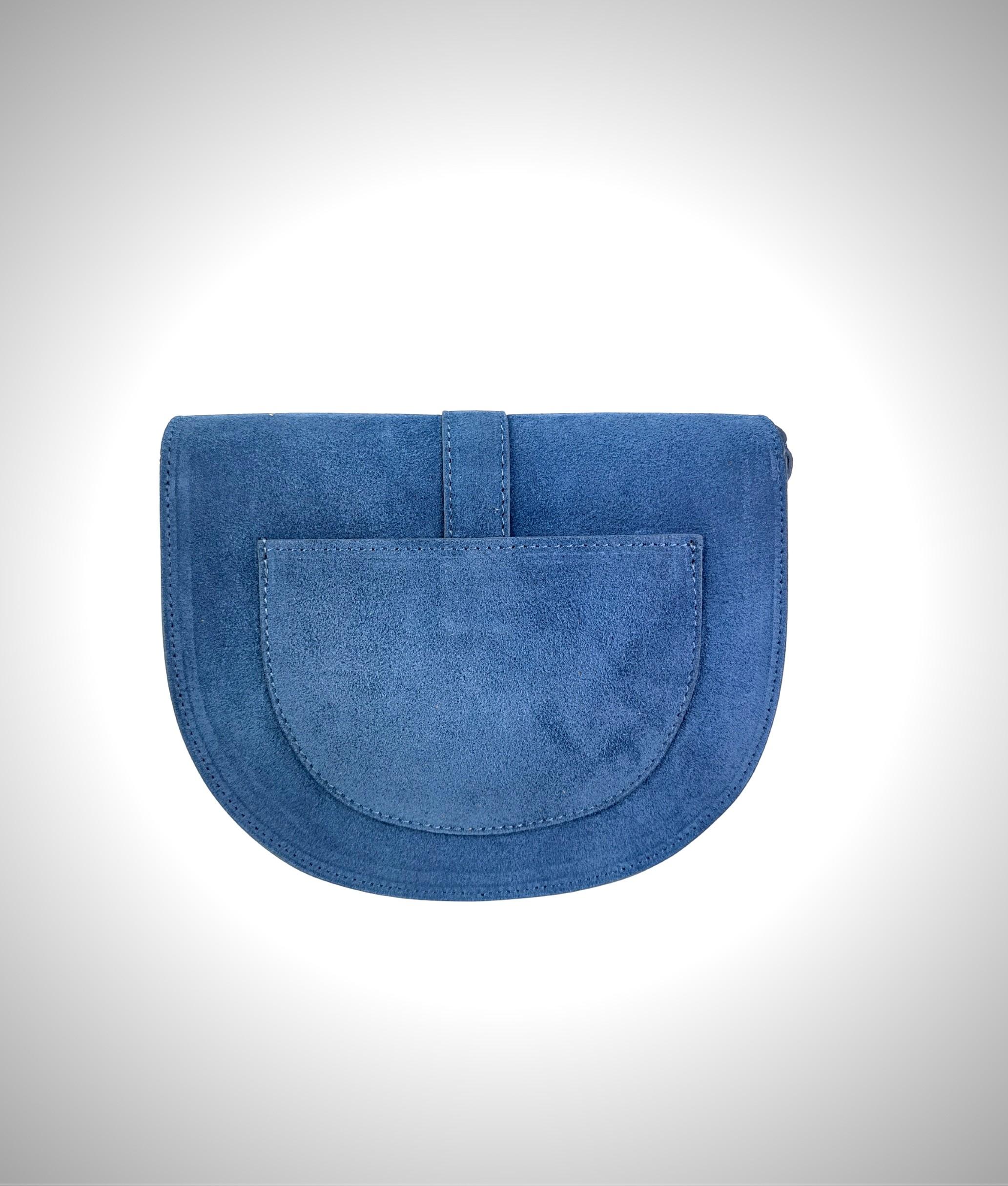 Leather crossbody bag Luna - black