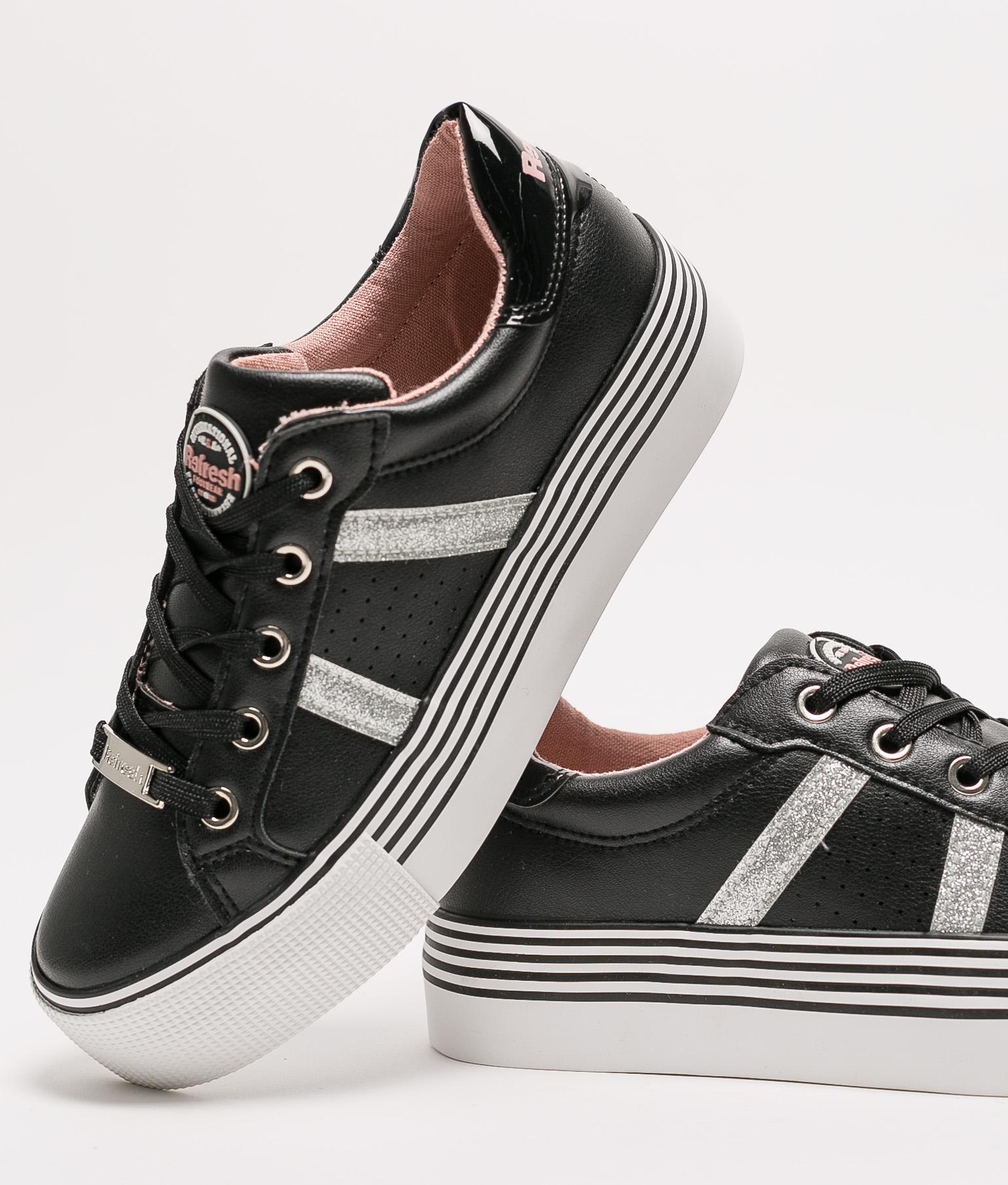 Sneakers Brilo Refresh- Negro