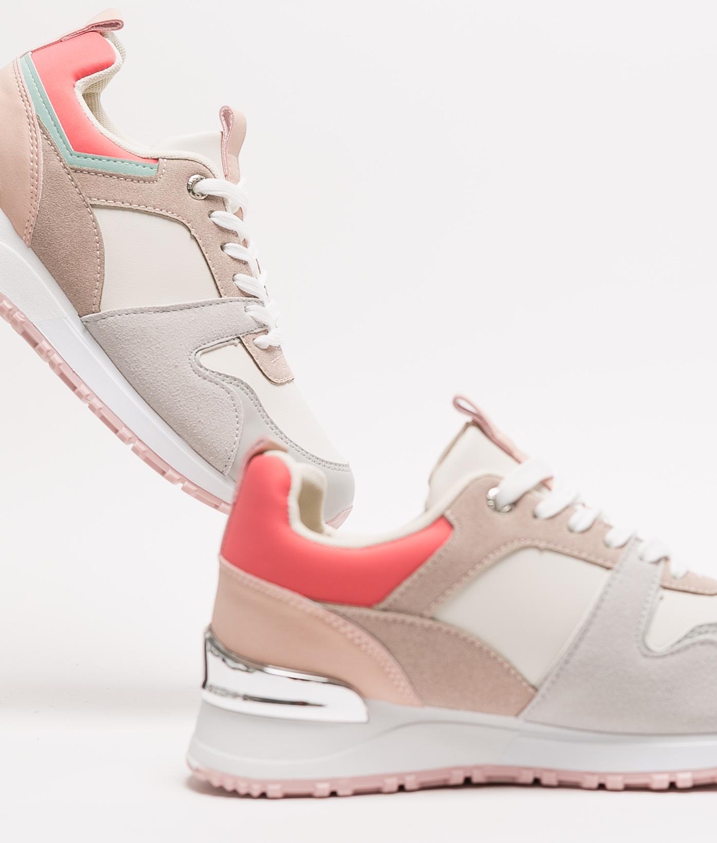 Sneakers Bekare - Gris/Rouge