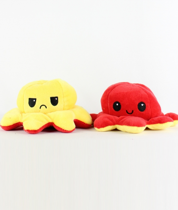 REVERSIBLE OCTOPUS - YELLOW/RED