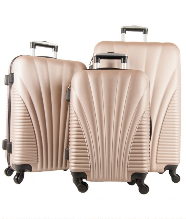 Suitcase Roma 3 Pieces - Champagne