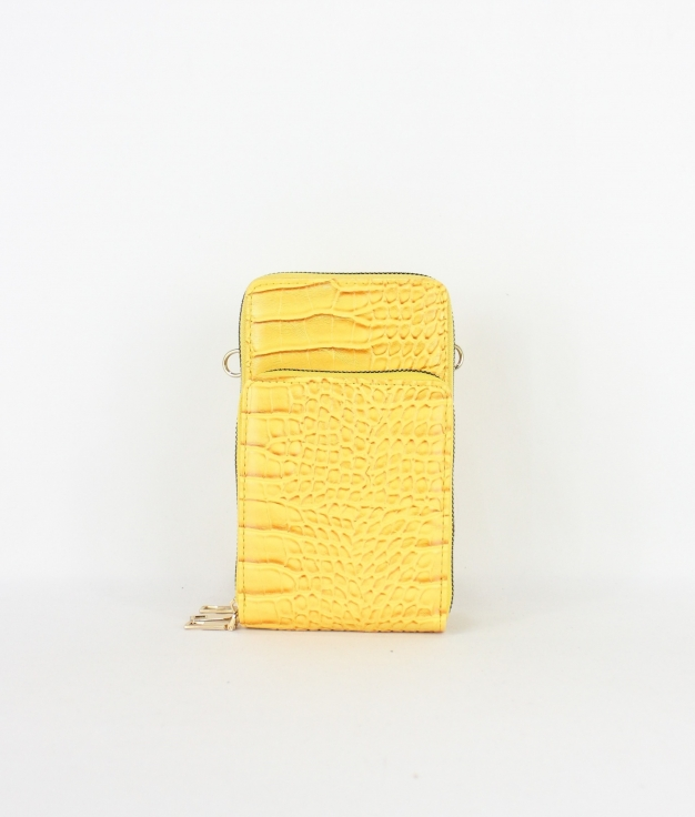 Wallet Mobile Holder Katia - Mustard