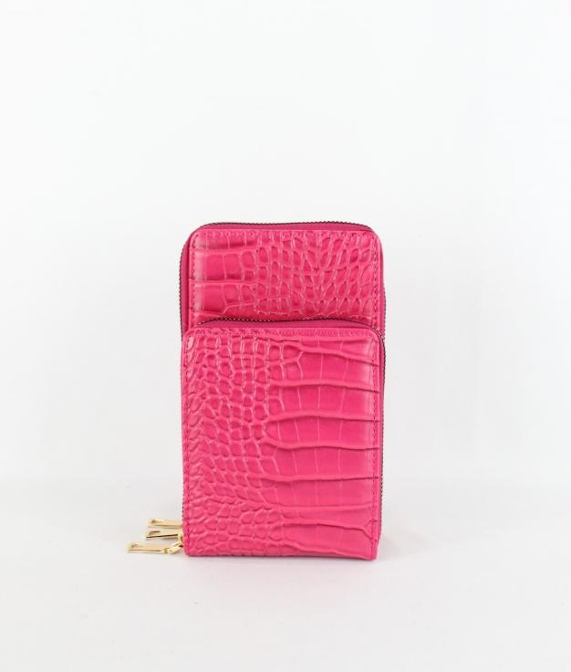 Wallet Mobile Holder Katia - Fucsia