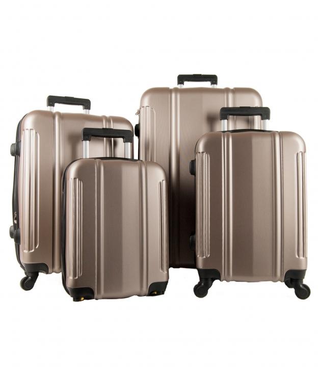 Suitcase Paris 4 Pieces - Champagne