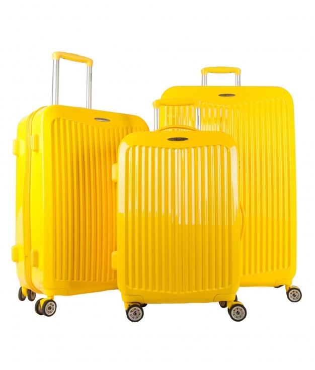 Mala de Viagem Partner 3 Pecas - Amarelo