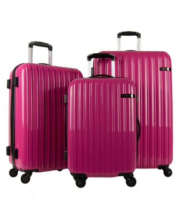 Suitcase Ibiza 3 Pieces - Fucsia