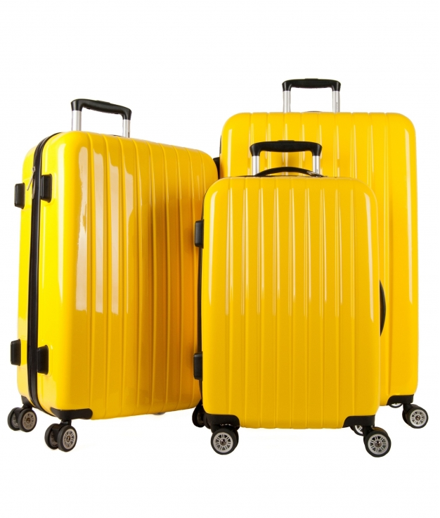 Mala de Viagem Milan 3 Pecas - Amarelo