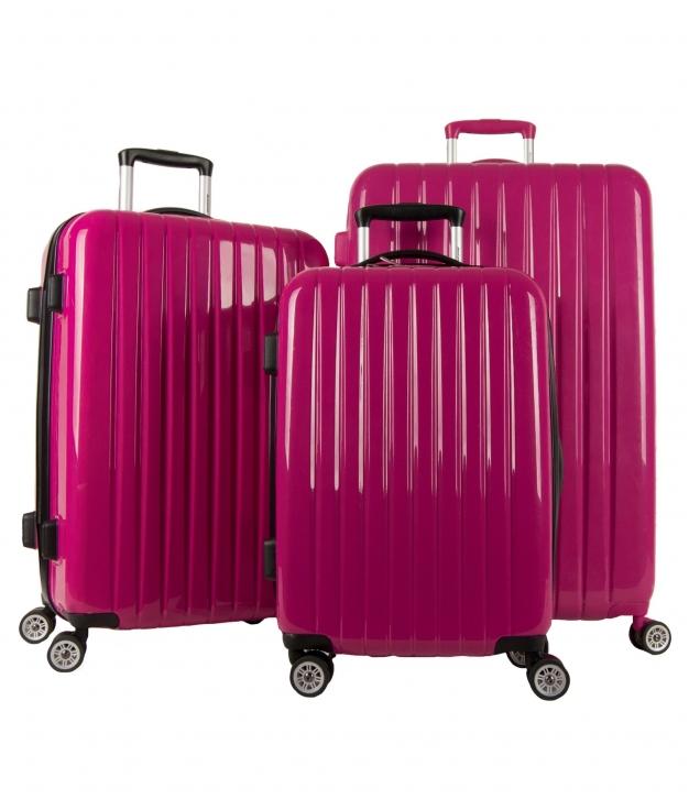 Suitcase Milan 3 Pieces - Fucsia