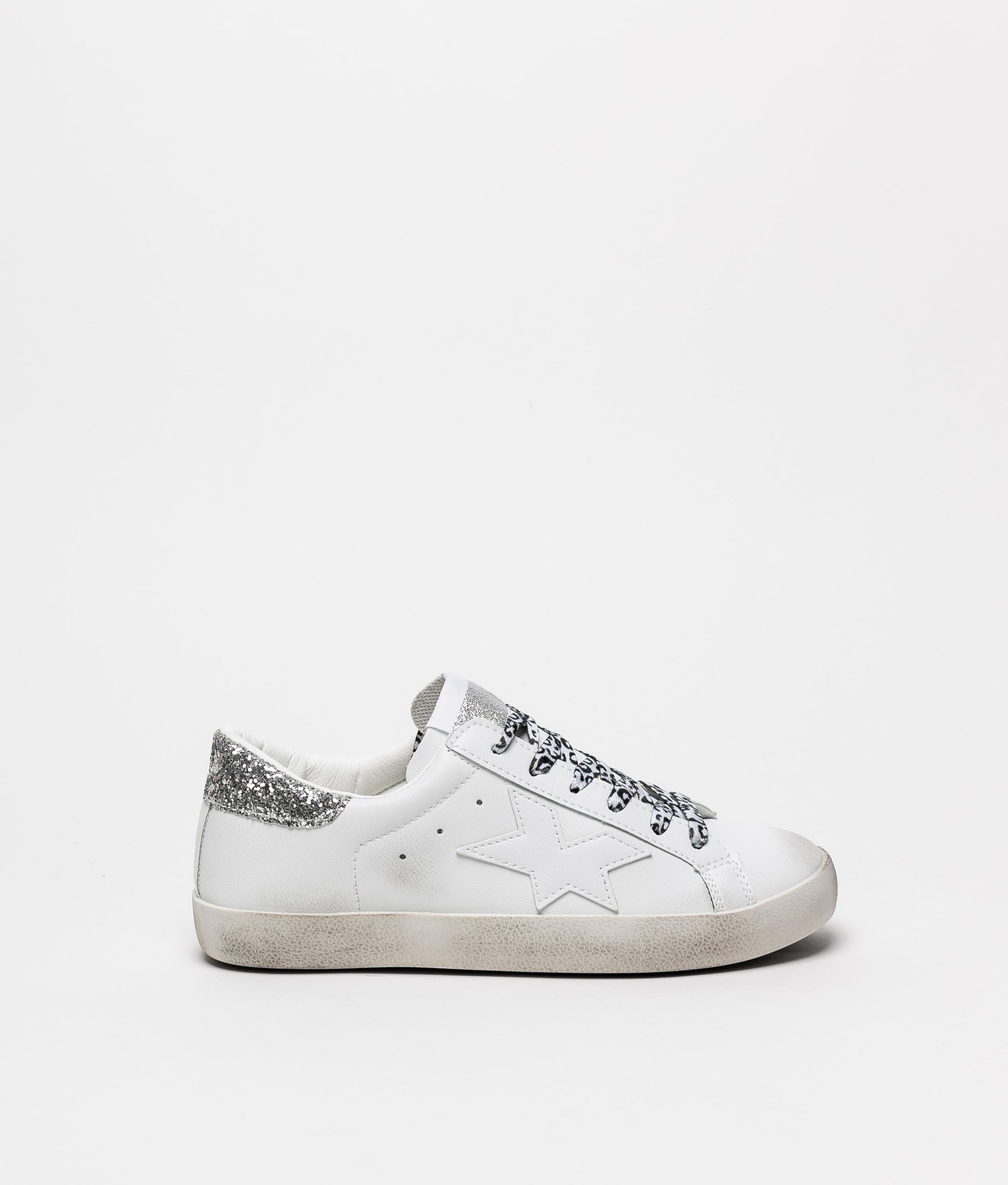 Sneakers Colir - Branco/Prata