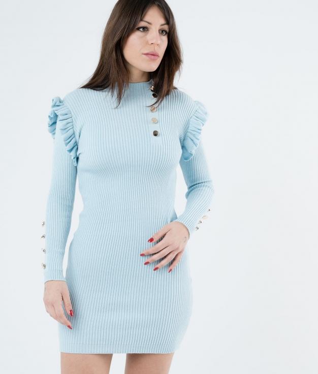DRESS CHALEY - BLUE CELESTE