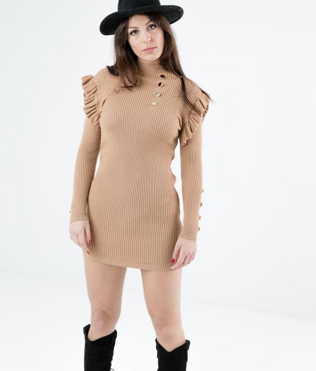 DRESS CHALEY - CAMEL