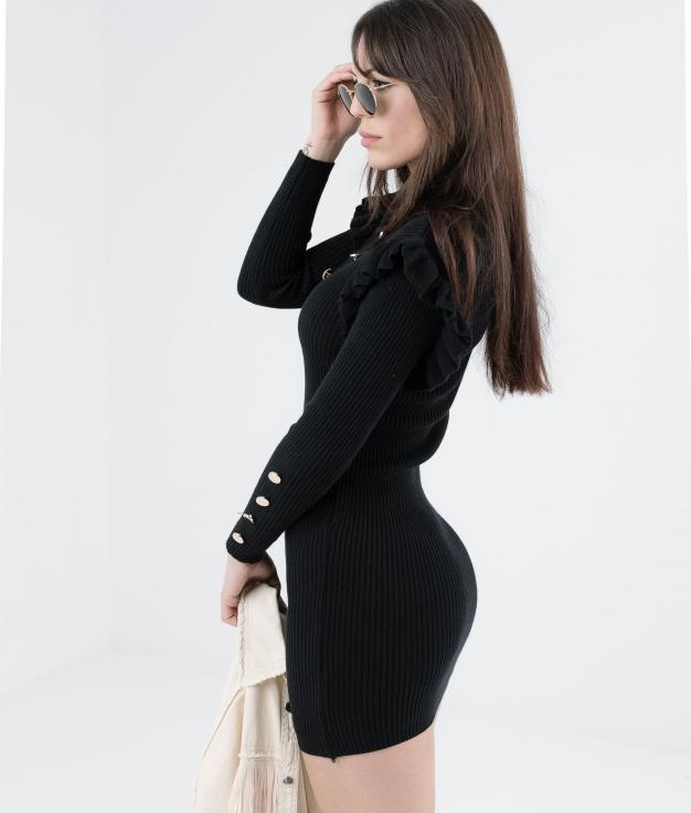 DRESS CHALEY - BLACK