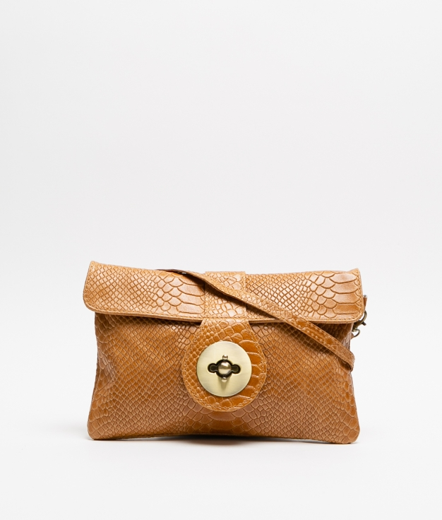 YUSI LEATHER BAG - CAMEL