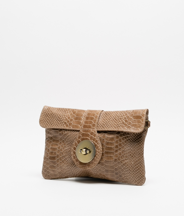 YUSI LEATHER BAG - TAUPE