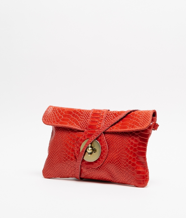 YUSI LEATHER BAG - RED