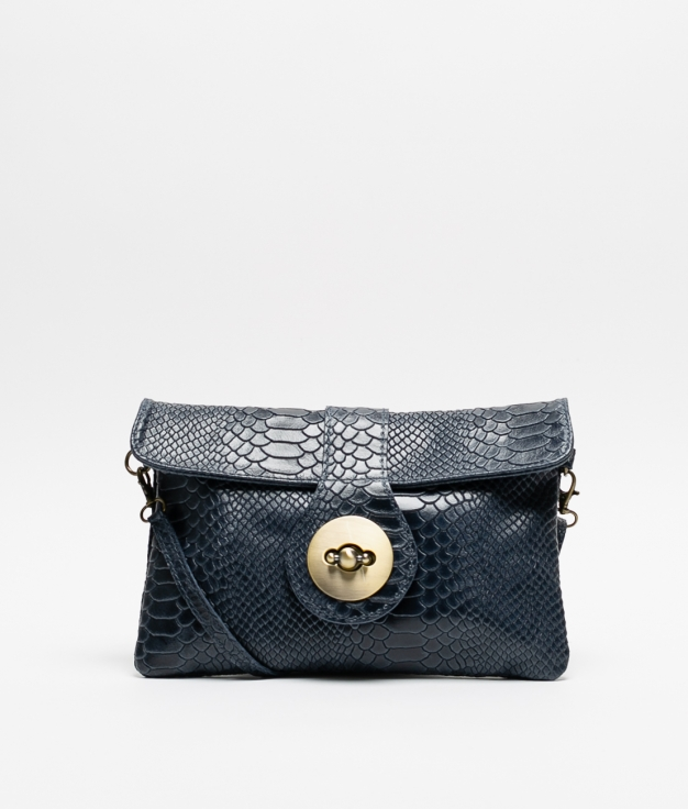 YUSI LEATHER BAG - DARK BLUE
