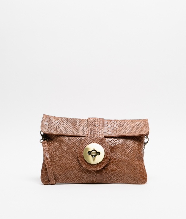 YUSI LEATHER BAG - BROWN